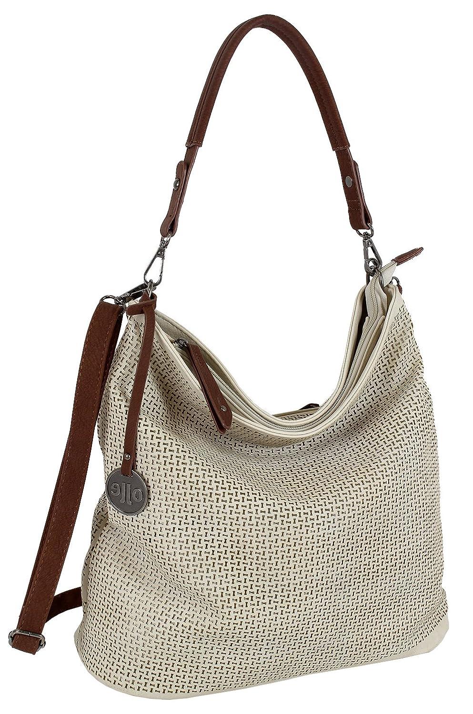 dfcc5826a355b Damen Tasche Schultertasche Große Umhängetasche in 5 Farben Handtasche für  Frauen Sommer Design Crossbody (3126) (Natur)  Amazon.de  Koffer