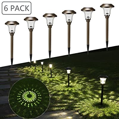 Toodour Solar Pathway Lights, 6 Packs Solar Outdoor Garden Lights Auto On/Off, Waterproof Solar Path Lights, Solar Landscape Lighting for Yard Patio Walkway Landscape Pathway : Garden & Outdoor