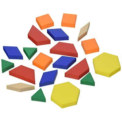 School Smart Plastic Pattern Blocks, Set of 250: Office Products