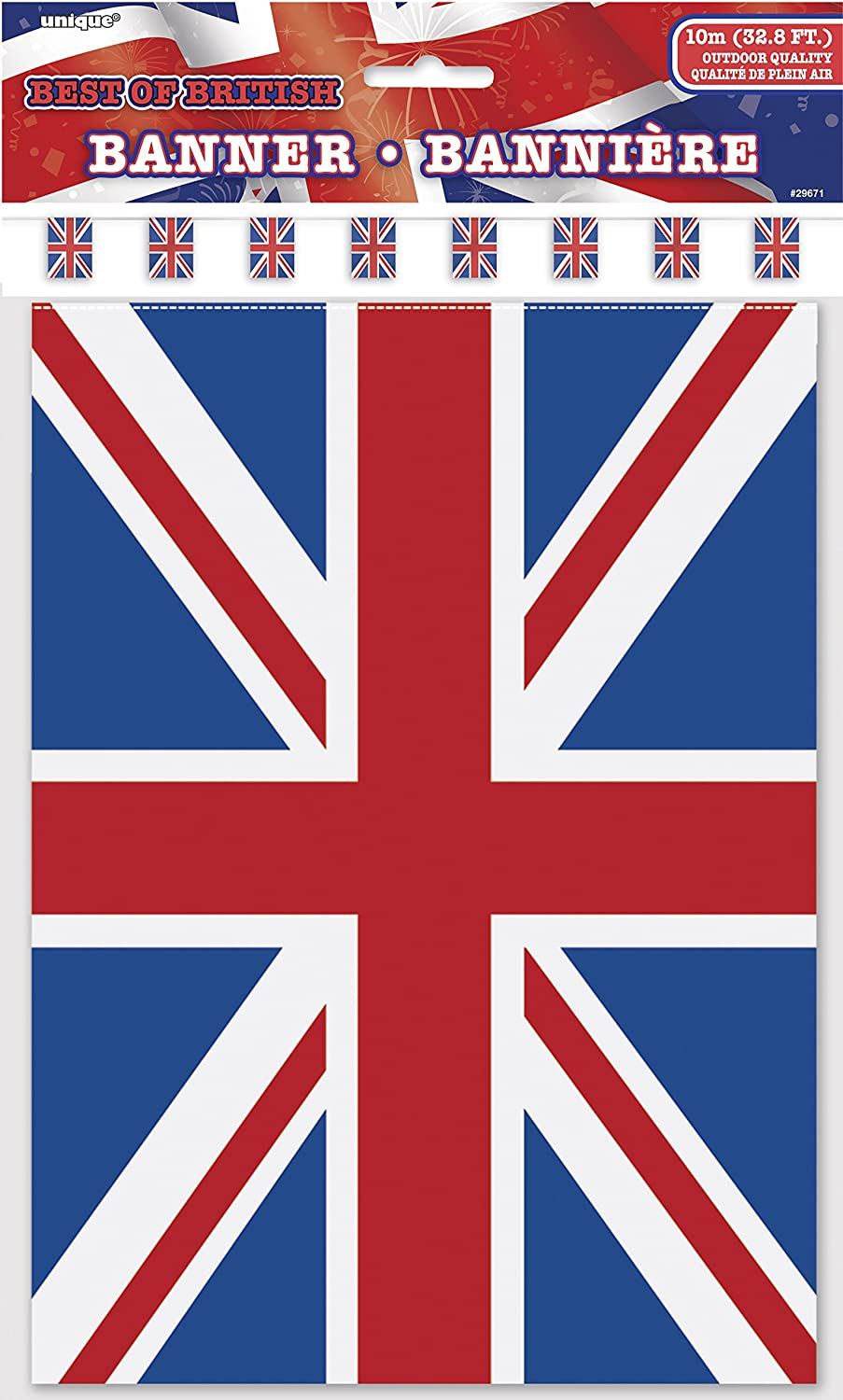 Unique Party  Ft Plastic Best Of British Union Jack Bunting Flags Amazon Co Uk Toys Games