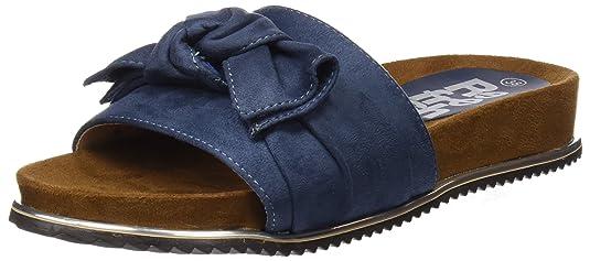 64326, Sandales Bout Ouvert Femme, Bleu (Jeans), 39 EURefresh