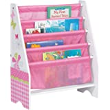 Butterflys and Flowers Kids Sling Bookcase - Bedroom Storage by HelloHome