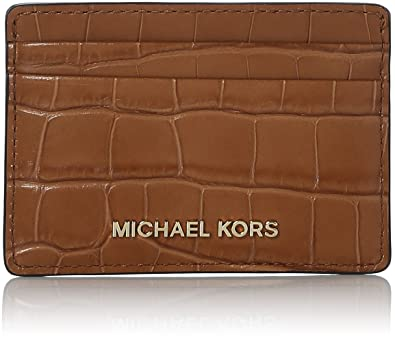 df0e1c72f410 Amazon.com  Michael Kors Womens Jet Set Card Holder Card Case Brown  (Acorn)  Shoes
