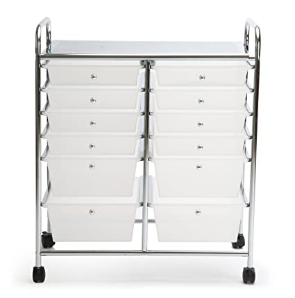 Superieur Finnhomy 12 Drawer Rolling Cart Organizer,Storage Cart With Drawers,  Utility Cart For School