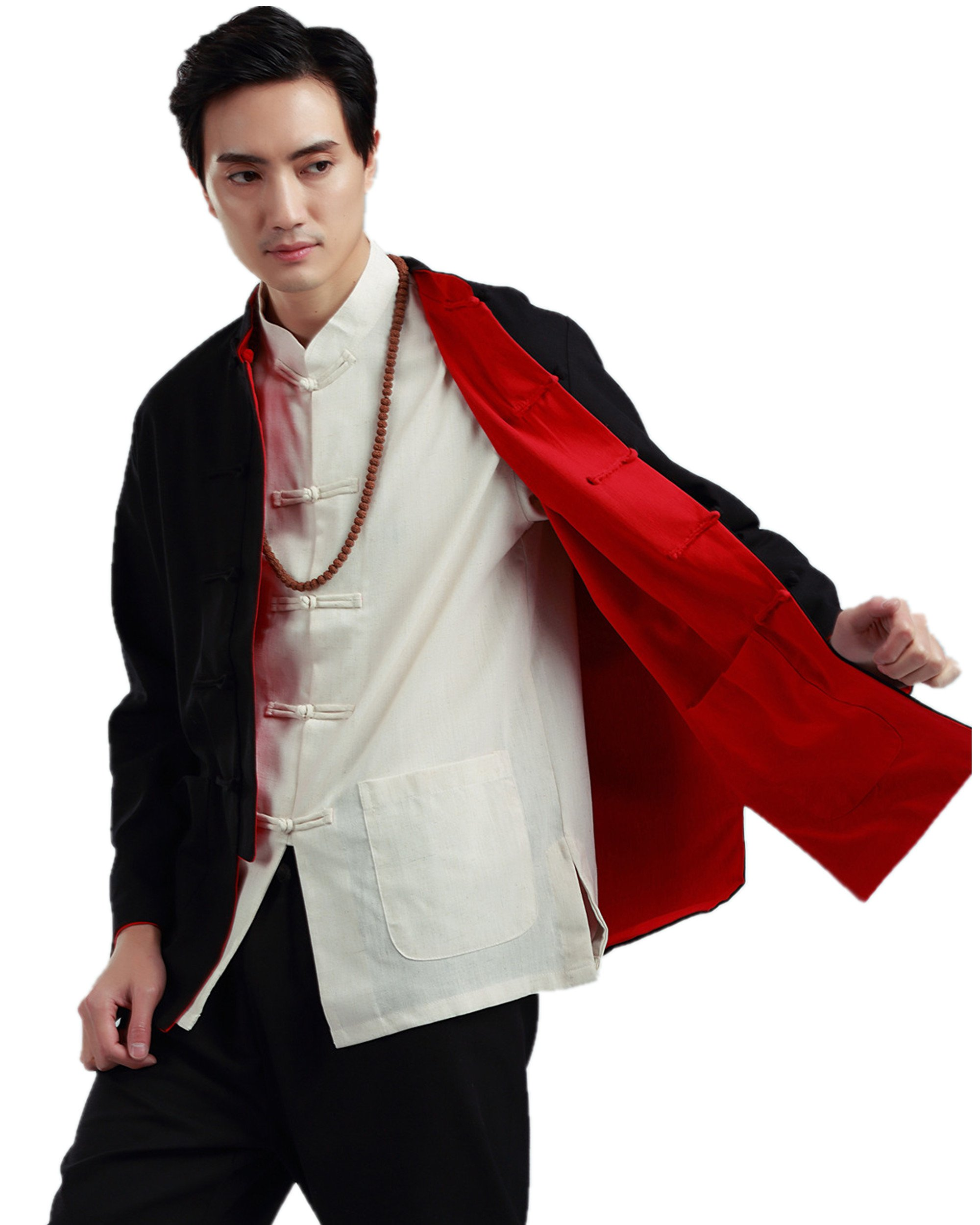 Shanghai Story Traditional Both Sides Wear Tang Kung Fu Jacket Black/Red 3XL