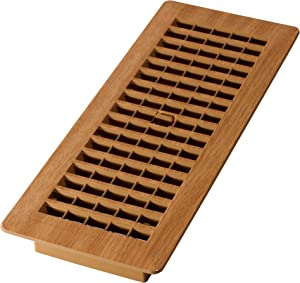 Decor Grates PL412-OC 4-Inch by 12-Inch (Duct opening measurements) Plastic Floor Register, Oak Caramel