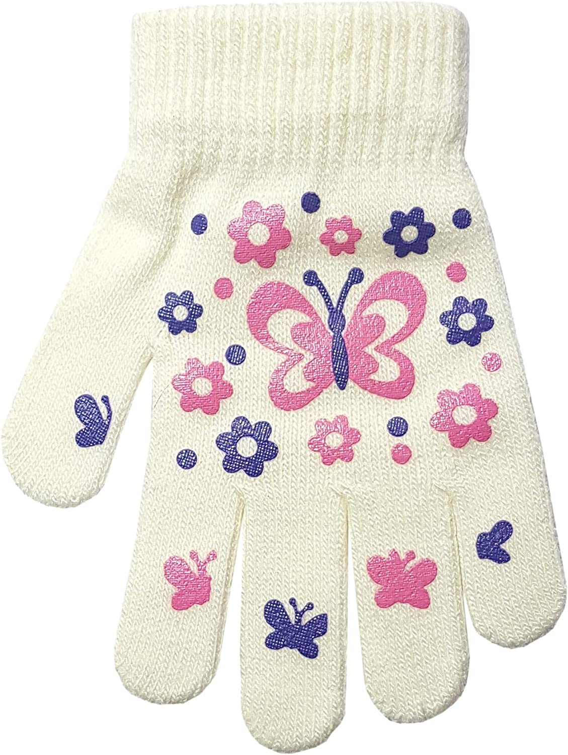 Childrens Heart and Butterfly Design Magic Gripper Gloves