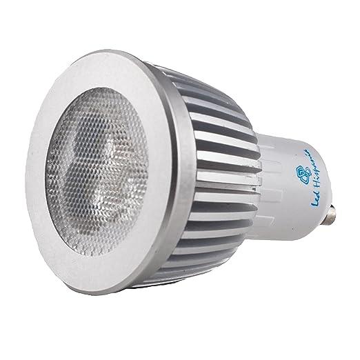 Hispania Dicroicas LED GU10 borne 7W de consumo | 440 lumens, luz cálida 3000K