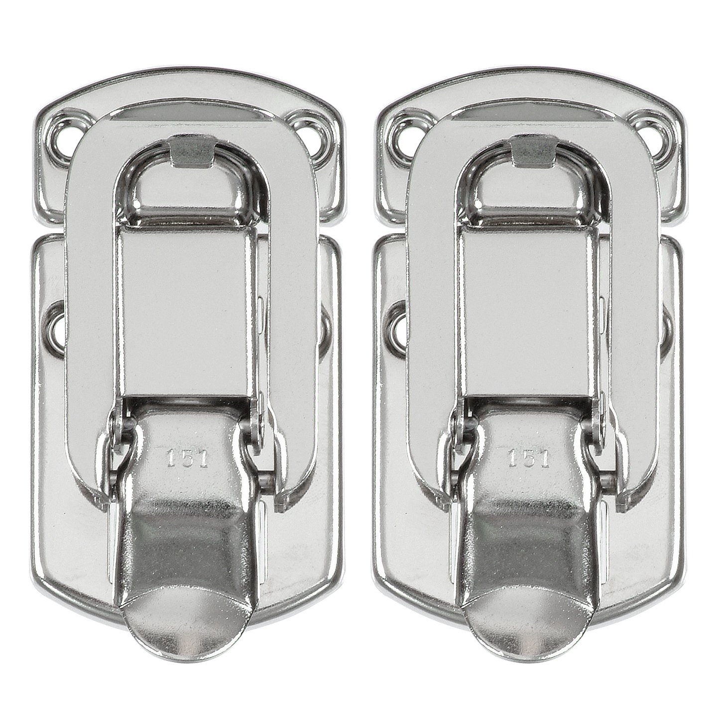 Reliable Hardware Company RH 2510 2 A Set of 2 Medium Size Nickle Plated Briefcase Latch