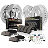 Power Stop KOE15231DK Autospecialty Front and Rear Replacement Brake Kit-OE Brake Drums & Ceramic Brake Pads