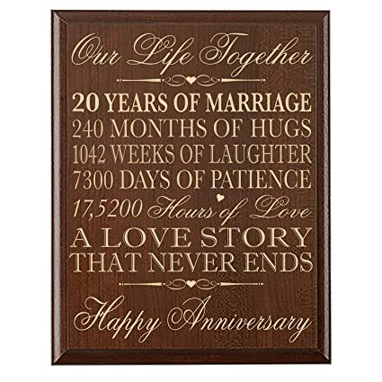 Amazon 20th Wedding Anniversary Gifts Wall Plaque Gifts For
