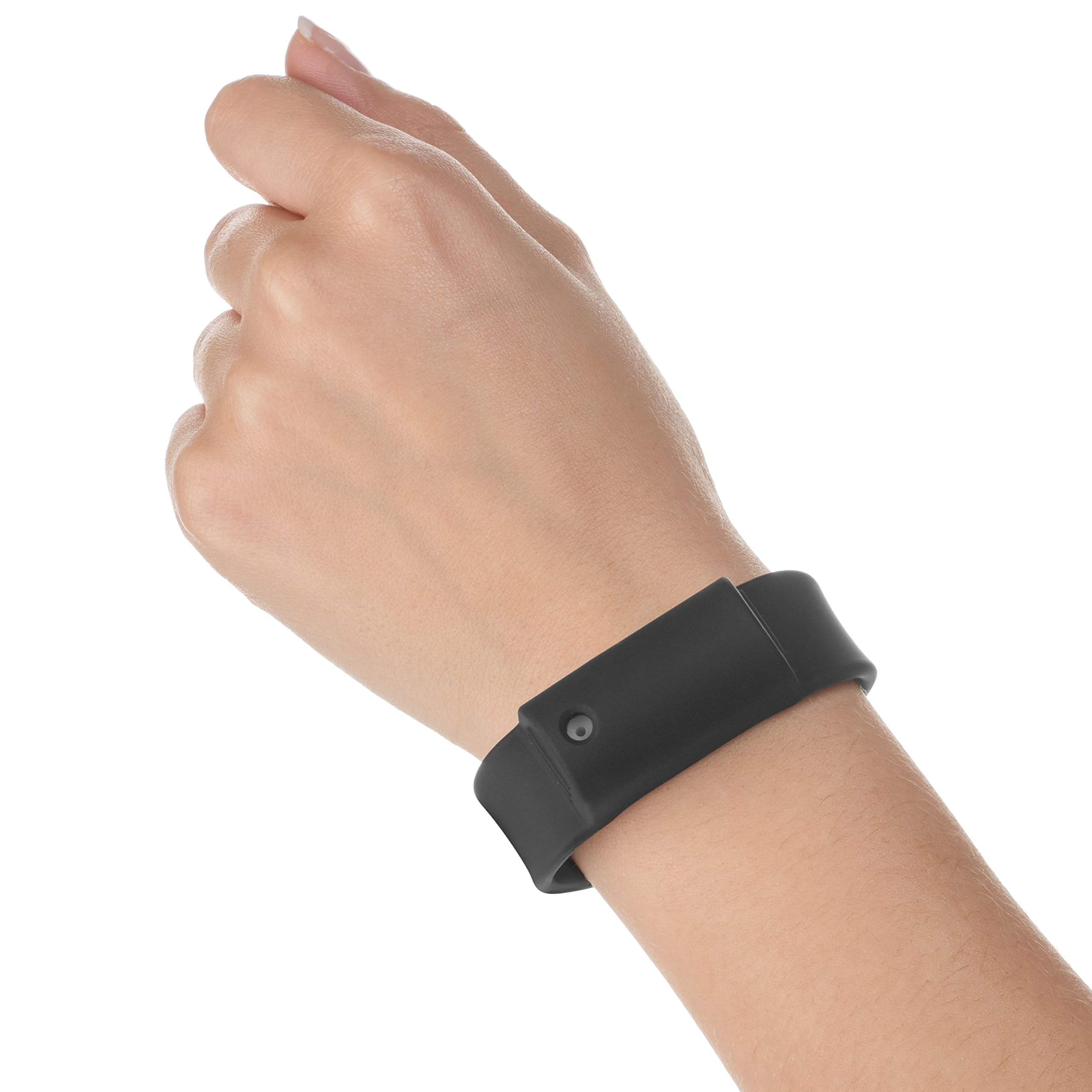 Little Viper Pepper Spray Bracelet, Adjustable Silicone Band- Black, Lightweight, Discreet and Easy Access For Quick Response to Attack, Contains 3-6 Bursts of 10% OC, Cannot Ship to MA or NY