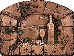 Pleasant Evening Kitchen Backsplash Copper Mural - Embossed Metallic Art for Home Decoration (18.5 x 14 x 2.5 inches)