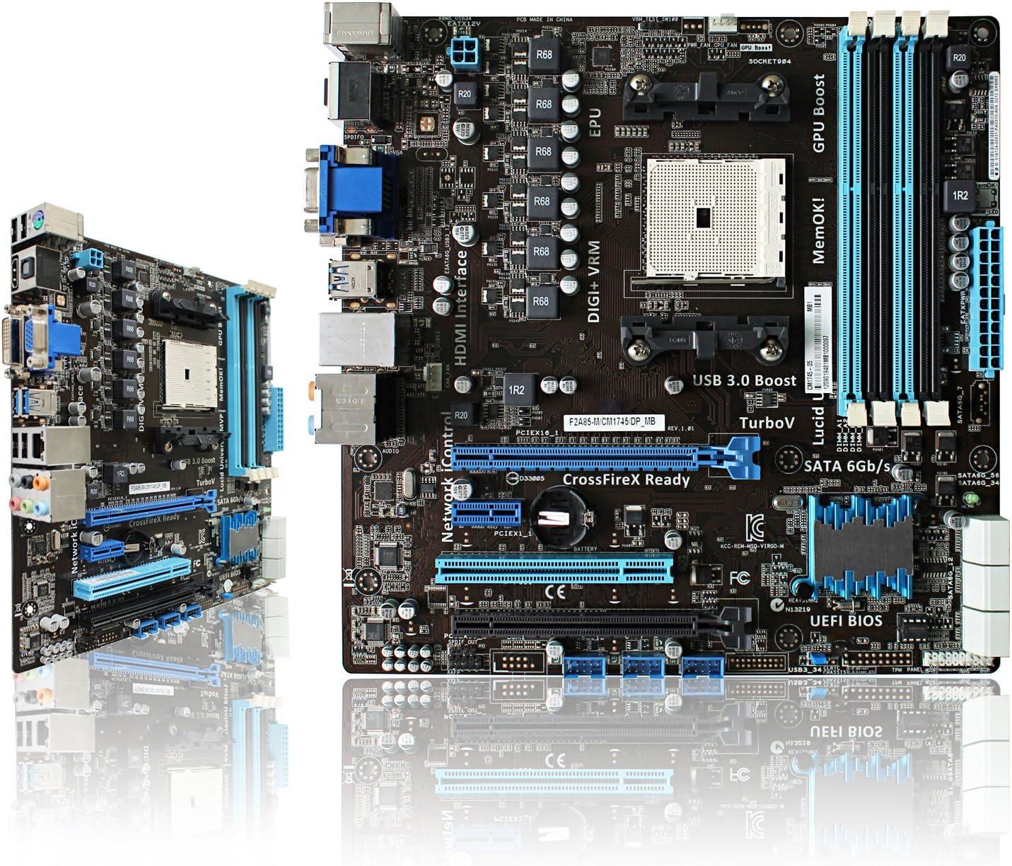 For ASUS F2A85-M//CM1745//DP-MB Desktop Motherboard AMD A85 SATA 6Gb//s Socket FM2 Mainboard