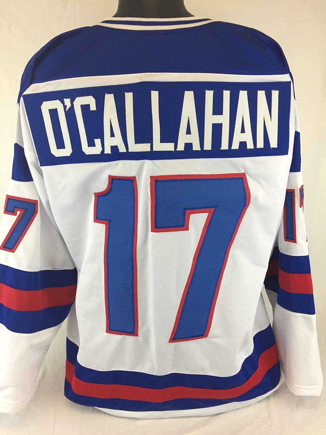 JACK O'CALLAHAN UNSIGNED USA OLYMPIC WHITE JERSEY SIZE 2xl 1980 MIRACLE ON ICE - Autographed Olympic Jerseys Sports Memorabilia