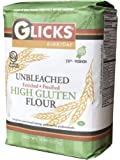 Glicks Unbleached High Gluten Flour, (5 Pounds) Enriched, Presifted, Kosher, No Preservatives