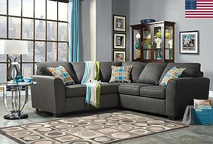 Enjoyable Amazon Com Esofastore Sectional Sofa Living Room Furniture Machost Co Dining Chair Design Ideas Machostcouk