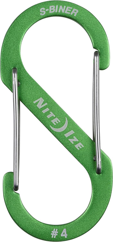 Nite Ize SB234-03-11 S-Biner Carabiner Stainless Assorted