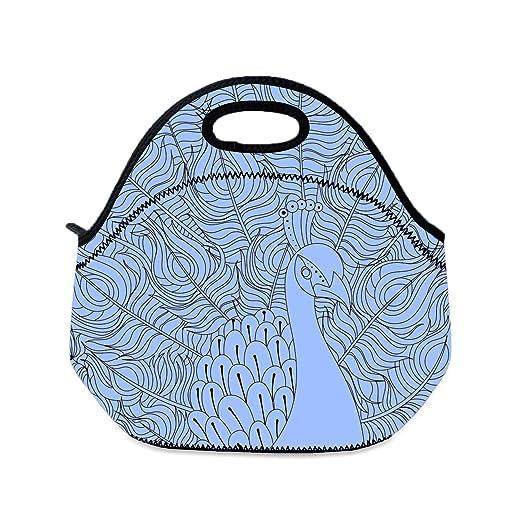 Bolsa de almuerzo para niños con diseño de pavo real para ...