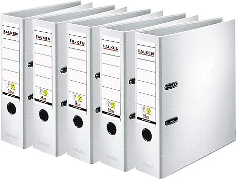 15 x Ordner A4 8cm PP Kunststoff Weiss Aktenordner Briefordner Breit Büro