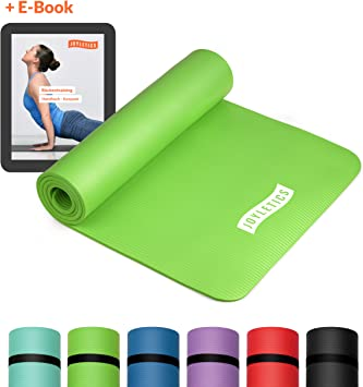 Fitnessmatte Gymnastikmatte Yogamatte Turnmatte NBR-Matte 15mm dick Farben