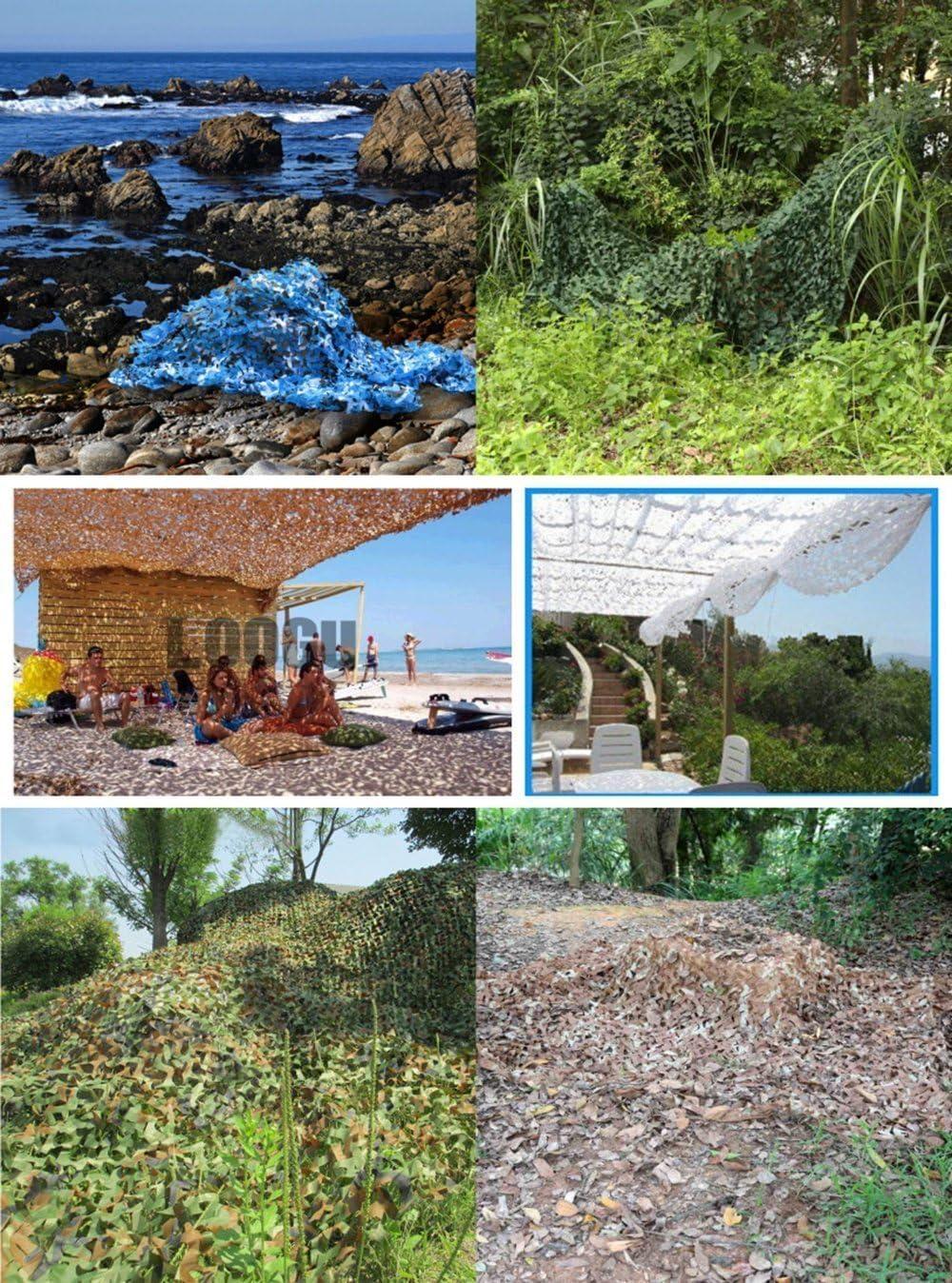 MILASIA Camouflage Net Camouflage Camoet Woodland Camo Camo per Paesaggio forestale Esercito di Caccia ignifugo Esterno