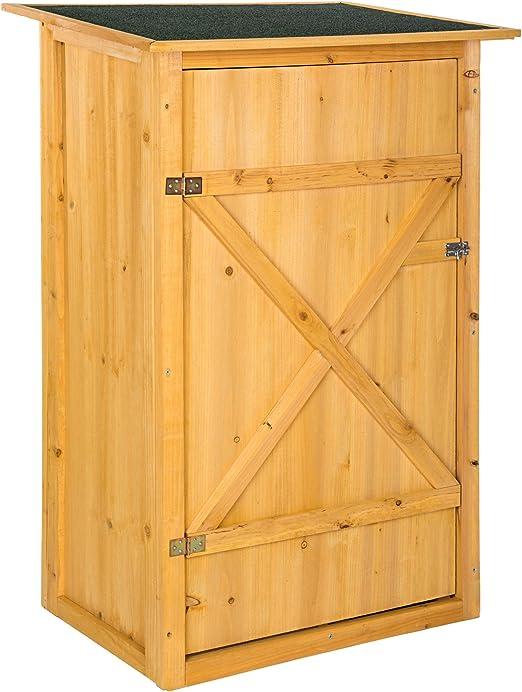 TecTake 402200 Caseta Armario para Jardín, 2 Estantes para Herramientas, Tejado Plano, 75x56x118 cm: Amazon.es: Jardín