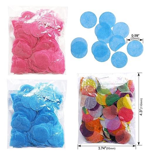 Konsait 3 Piezas 36 Globos de Látex Negro Confetti Globos Gigantes para Fiestas Niño or Niña Baby Shower Decoracion Cumpleaños Género Revela, ...