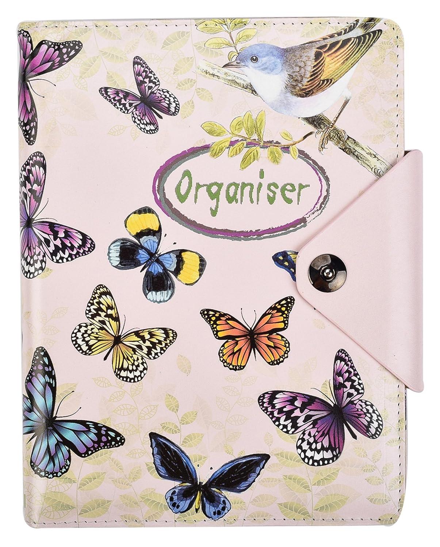 cuaderno de renglones y tapas acolchadas con bot/ón de cierre a presi/ón Arpan color hot pink A5 A5 Agenda personal