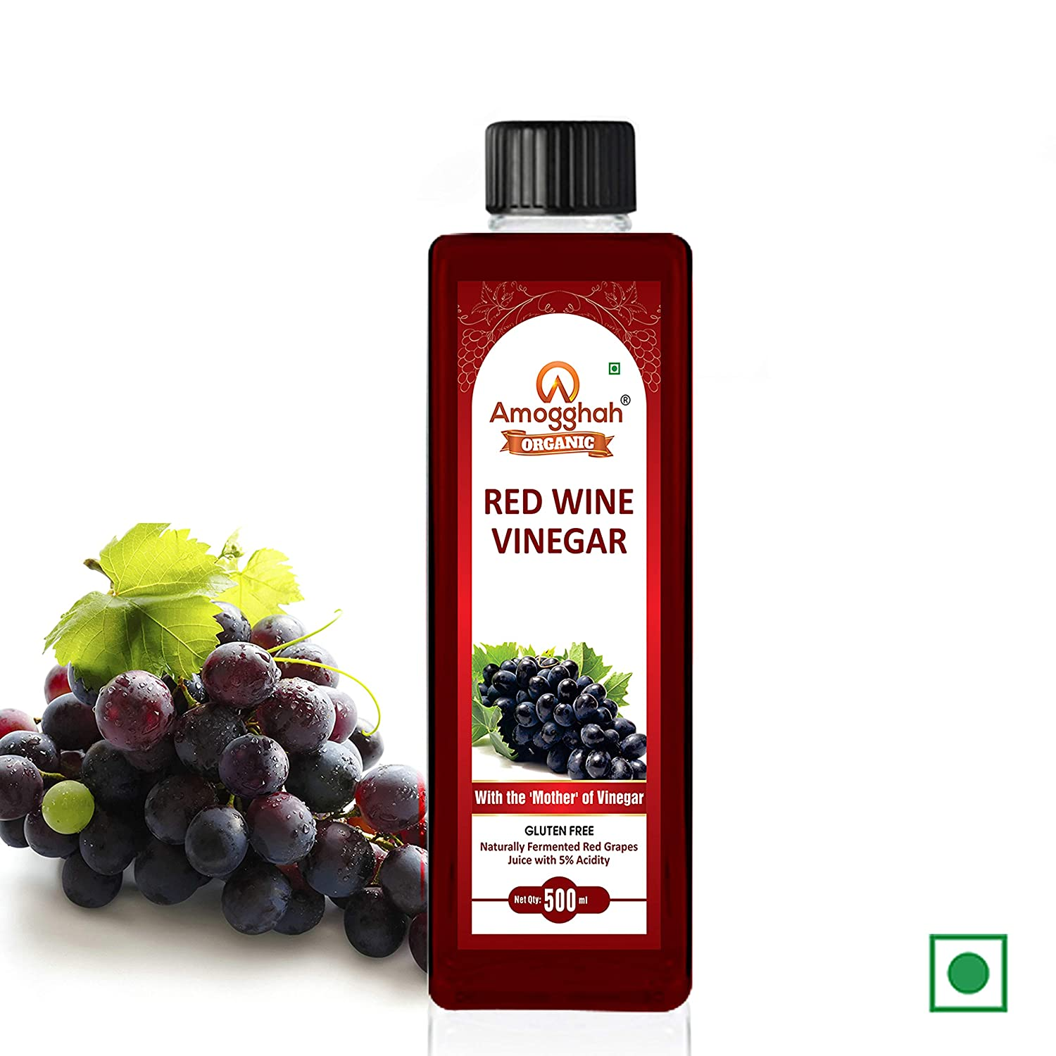 Amogghah Organic Red Wine Vinegar Non Alcoholic Drink For Weight Loss 500 Ml Amazon In Grocery Gourmet Foods