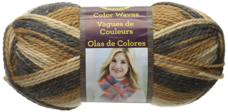 Lion Brand Yarn 595-216 Color Waves Yarn, Rainbow Lion Brand Yarn Company