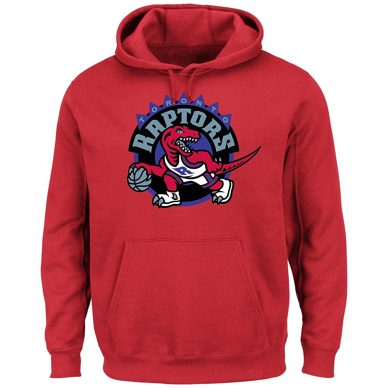 new concept 5d993 f9f5b Toronto Raptors NBA Men's Hardwood Classics Tek Patch Pullover Hoodie  Fleece (XXLarge)