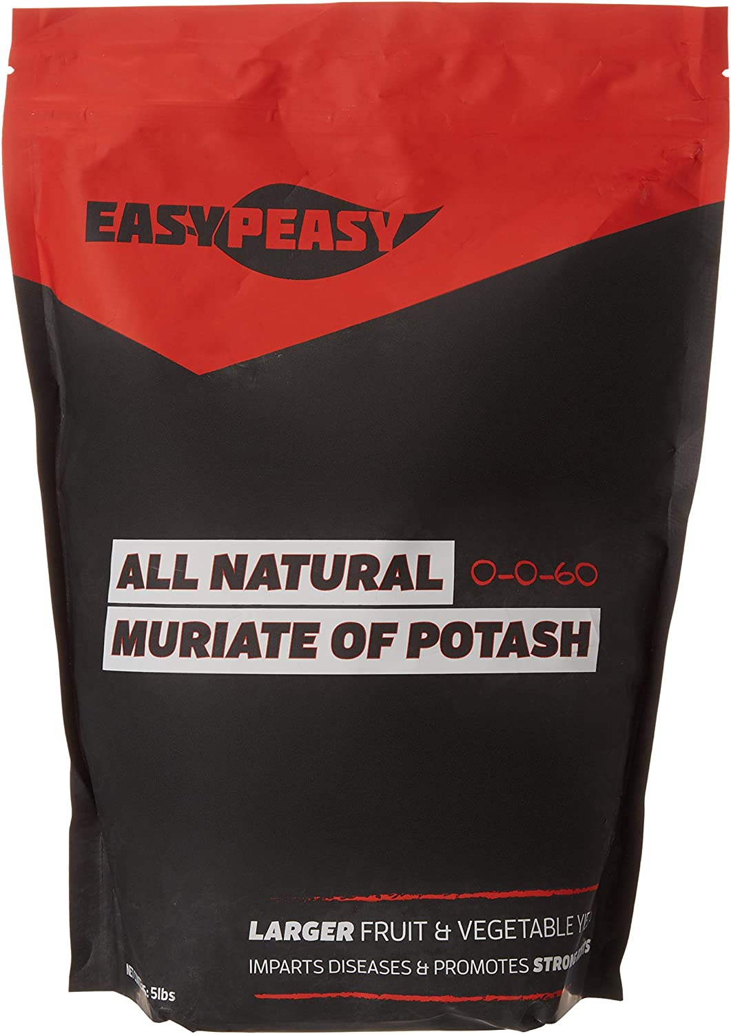 Easy Peasy Plants All-Natural Muriate of Potash Granules - Potassium Fertilizer for Gardens, Lawns, and Trees (5lb Bag)
