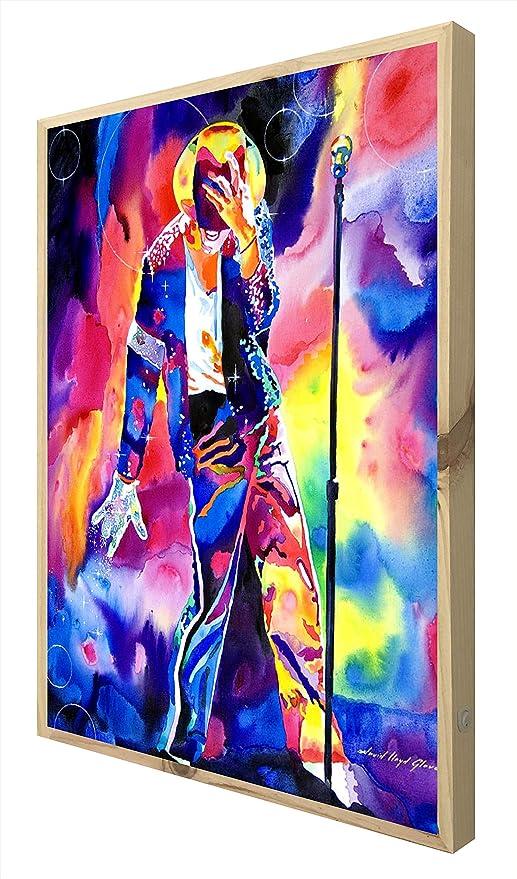 CCRETROILUMINADOS Michael Jackson Cartel de Madera con Luz ...
