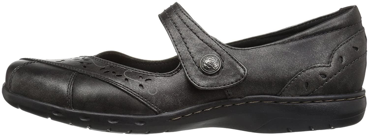 Cobb Hill Rockport Women's Petra Mary Jane Flat B01AK5NGAU 11 B(M) US|Pewter