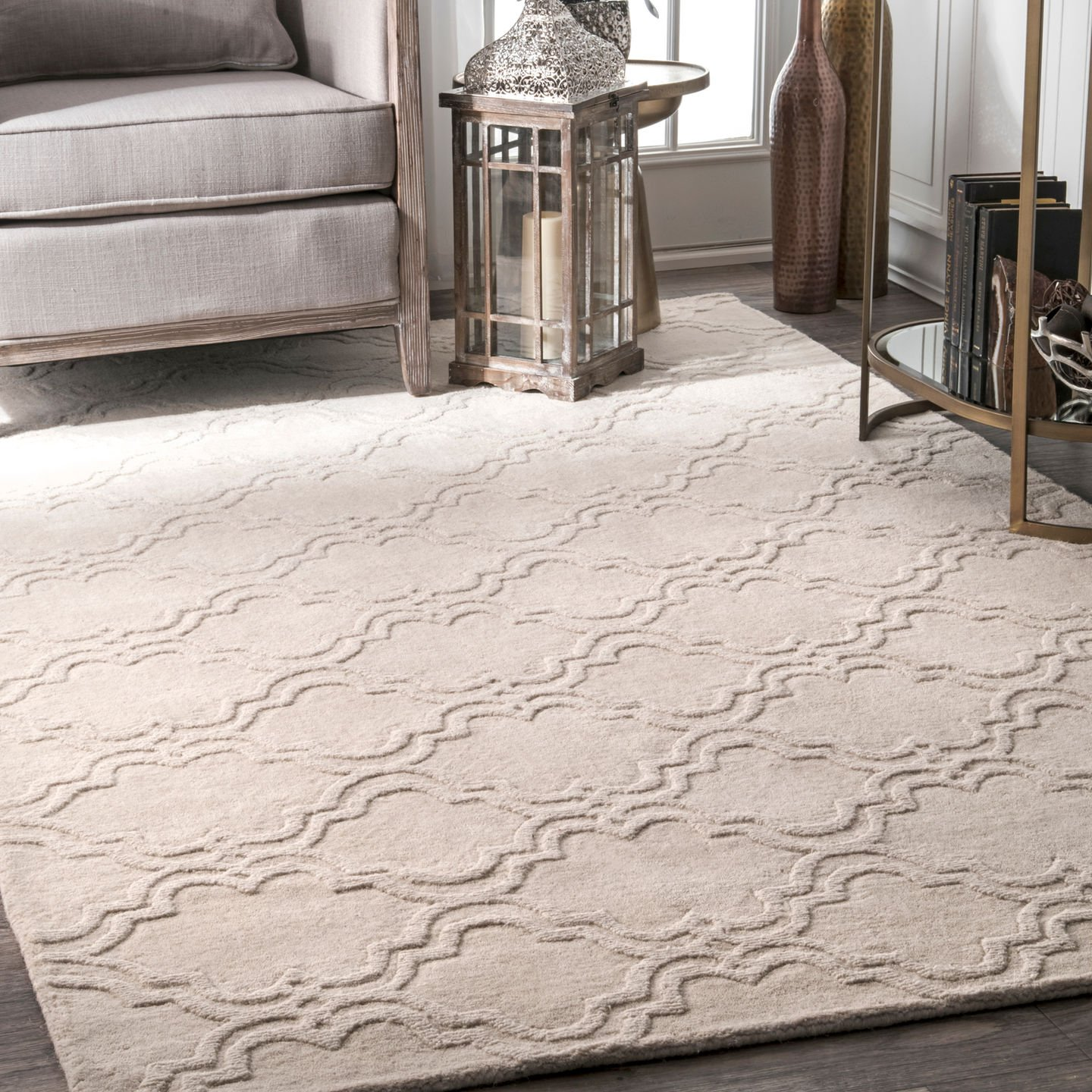 Handmade Modern Trellis Fancy Wool Rug by Nu Loom