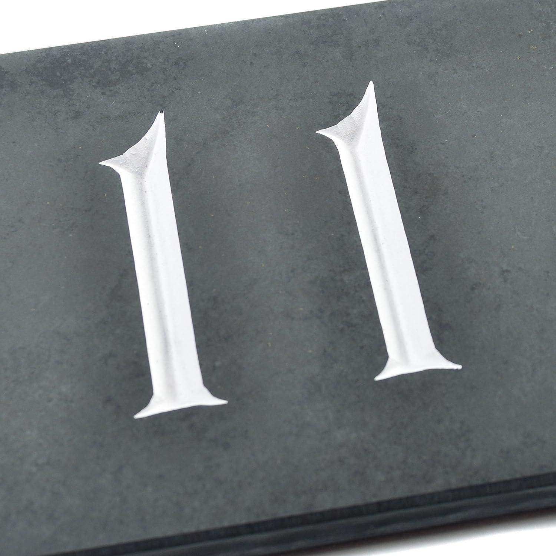 /ENVOI le m/ême Jour par 1st Class Post Black /de la plus haute qualit/é sur / 14 x 10 x 1cm Charcoal Grey Ardoise num/éro de maison/