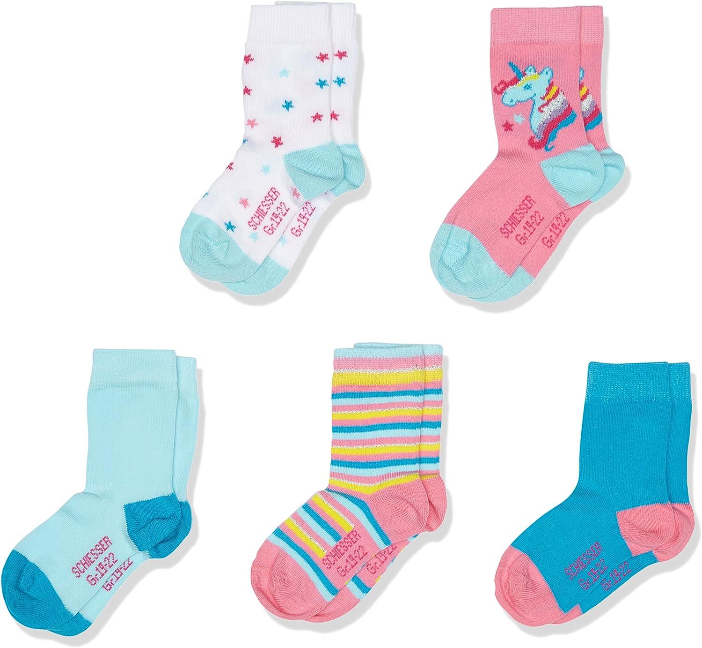 Mehrfarbig Sortiert 1 5PACK Socken 5er Pack 23-26 Schiesser Jungen Kindersocken