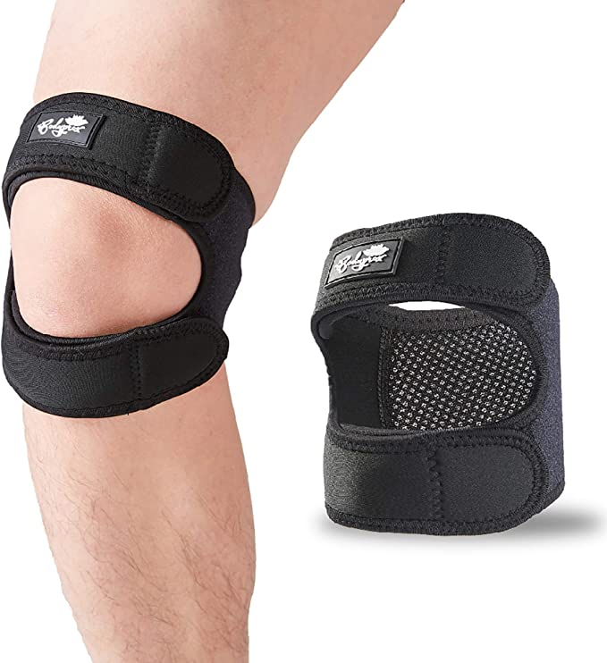 1 Pack ABSOAR Patella Knee Strap Knee Brace Band Stabilizer Tendon Pain Relief Support for Runner Jumper fit Both Knees
