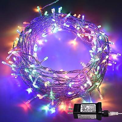 Indoor String Lights, HONGM Waterproof Fairy Light 8 Modes 100 LED 49.2 Feet Decorative Lights Plug in 30V Transformer Safe Voltage for Bedroom, Patio, Wedding, Party (Multi-color) : Garden & Outdoor