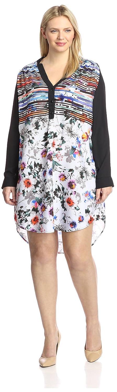 YASB Plus Womens Printed Shirt Dress
