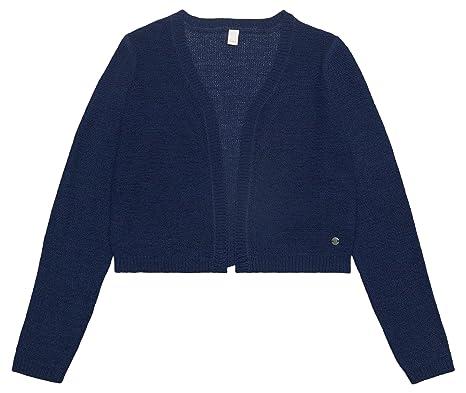 374008b274 ESPRIT Mädchen Strickjacke RL1805501, Blau (Midnight Blue 485), 134  (Herstellergröße: