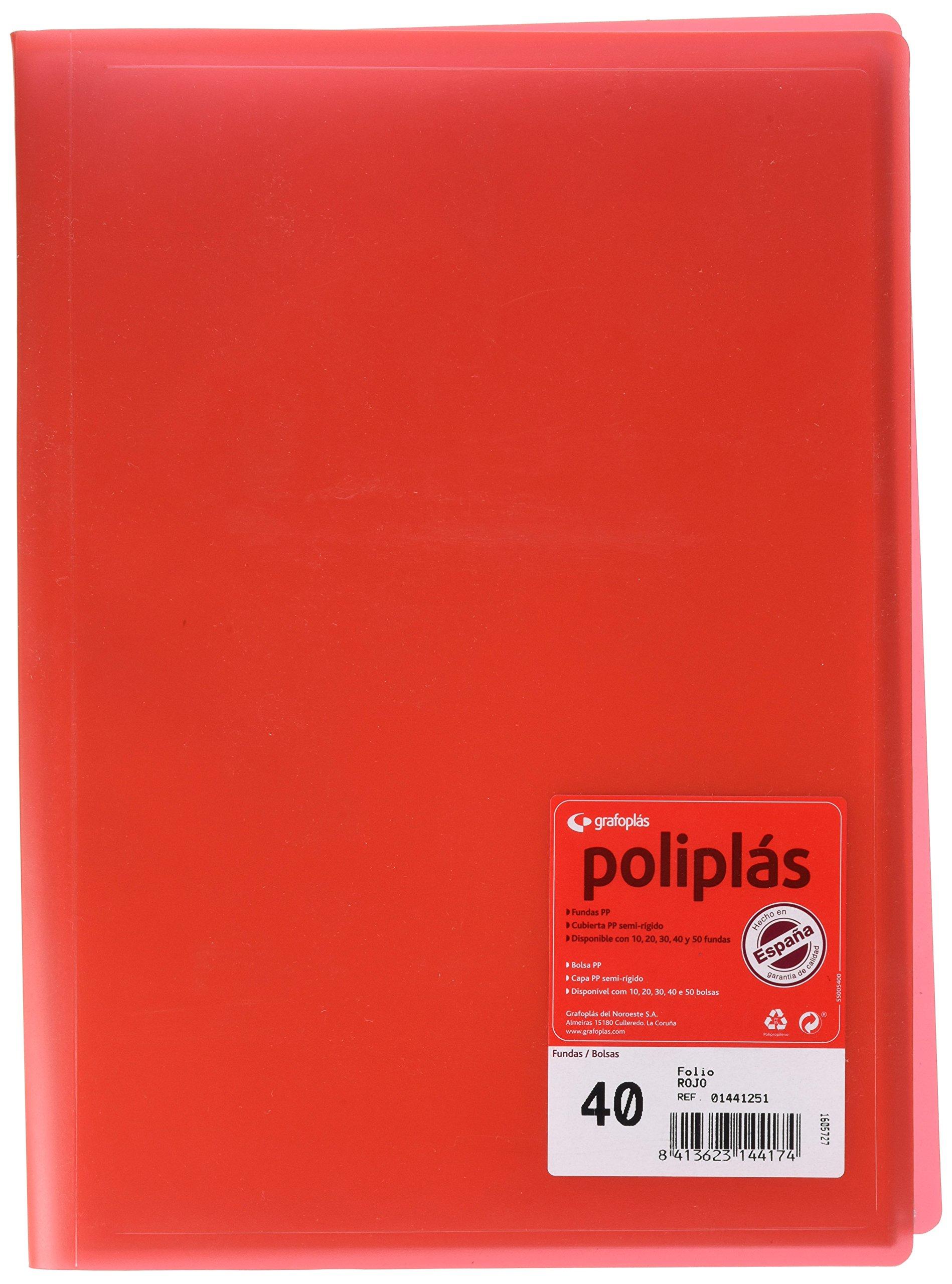 grafoplas 1155706–40Pockets Folder, Red