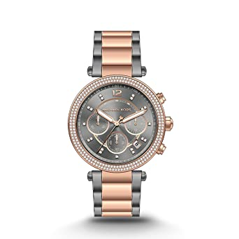 fbb82886fd54 Image Unavailable. Image not available for. Color  Michael Kors Women s  Parker Two-Tone Watch MK6440