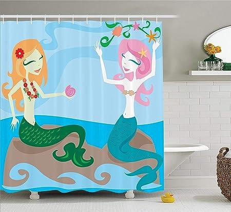 GAOFENFFR Gaofenff Mermaid Decor Collection - Juego de Mesa (Dos Sirenas Que disfrutan del océano, sentadas en Rocas y Juegos): Amazon.es: Hogar