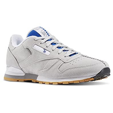 Reebok x Kendrick Lamar Big Kids Classic Leather (Gray/Skull Grey/Collegiate  Royal