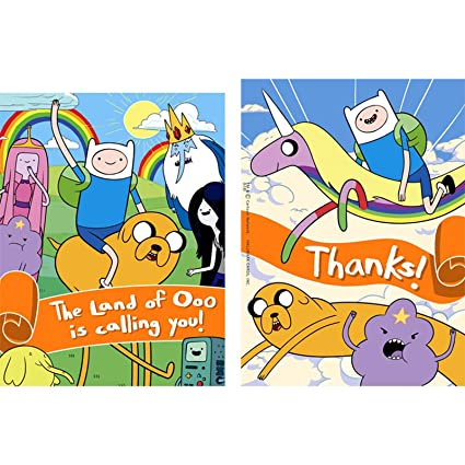 Amazoncom Adventure Time Invitations ThankYou Postcards 8 each