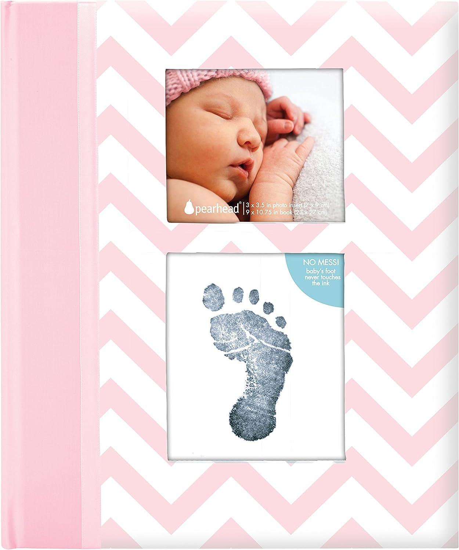 /De de libros de recuerdos con un aubdruck Volumen de limpio para obtener mano o Impresi/ón fussab del beb/é color rosa Pearhead p62205/zigzag Baby/