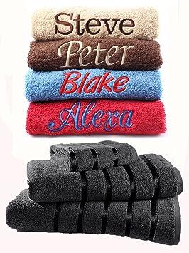 Juego de toallas bordadas personalizadas, ideal para regalo. Ponga cualquier nombre | Toalla de cara ...