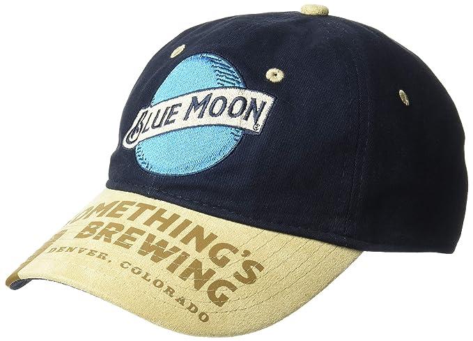 Miller Men s Classic Blue Moon Logo Adjustable Baseball Cap One Size ... c411f659b1fe